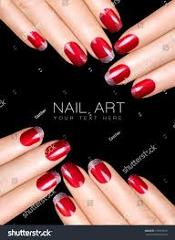 nail art easy holiday nail art ideas red ribbon xmas nails design