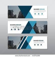 layout banner template eco green abstract circle corporate business banner template