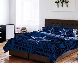 Dallas Cowboy Bathroom Set Amazon Com Dallas Cowboys Nfl Queen Comforter U0026 Sheet Set 5