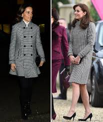 middleton pippa pippa middleton copies sister kate middleton in checked coat with