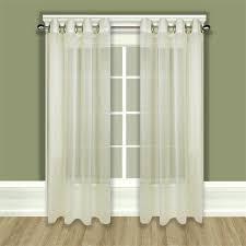 tergaline sheer grommet curtain panel in ivory or white