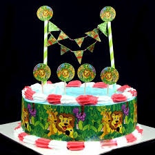 themed cake decorations 2018 jungle animal lion king birthday cake topper flags choose
