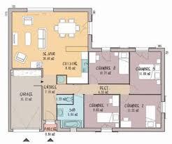 plan de maison 100m2 3 chambres plan maison 100m2 plein pied 3 chambres trendy plan maison plain