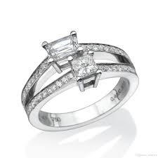 split band engagement rings 2017 split band engagement ring 18k white gold size 6 5