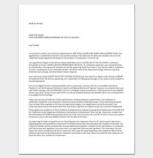 contract basis appointment letter format professional resumes