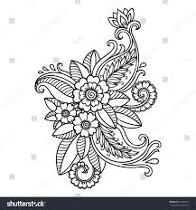 henna tattoo flower templatemehndi stock vector 413448775