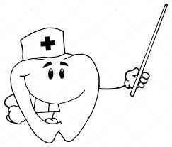 cartoon tooth doctor u2014 stock vector hittoon 61068761