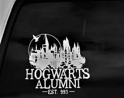 hogwarts alumni bumper sticker hogwarts alumni decal ravenclaw alumni hufflepuff alumni
