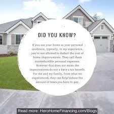 home renovation loan what are the tax benefits available on a home improvement or a