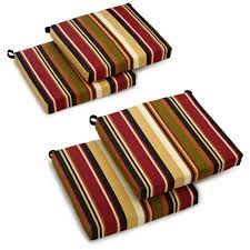 Patio Chairs With Cushions Blazing Needles U Shape Outdoor 16 X 16 In Chair Cushions Set