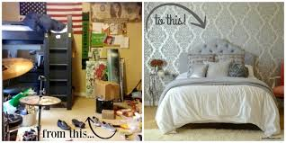 Before And After Bedroom Makeover Pictures - glam silver and white teen bedroom makeover rachel teodoro