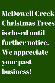 mcdowell creek christmas trees u we cut
