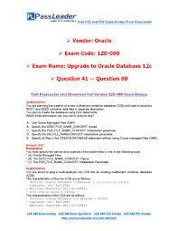 2016 new 1z0 060 exam dumps for free vce and pdf 41 60 by exam
