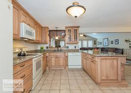 Modern Kitchen With White Appliances Kitchen Winsome Natural Maple Kitchen Cabinets White Appliances