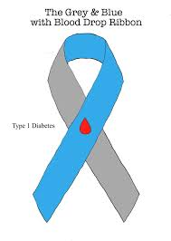 diabetes ribbon color the grey and blue with blood drop ribbon by ryu ren on deviantart