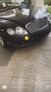 new bentley sedan nigerian musician burna boy flaunts his new bentley on instagram
