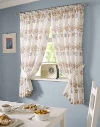 Kitchen Curtains With Fruit Design by Ready Made Kitchen Window Curtains Pencil Pleat Tie Backs Ducks