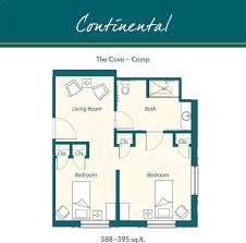 Continental Homes Floor Plans Senior Living Floor Plans Harborchase Of Southlake