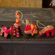 sewn stuffed animal ornament set kikoyi fabric