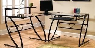 Realspace Computer Desk Desk Realspace Mezza Desk L Shaped Desk Glass Realspace