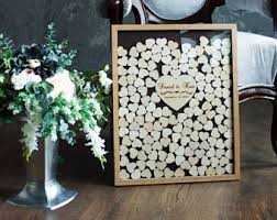wedding registry book guest book heart guestbook etsy