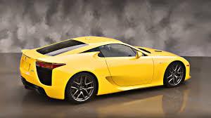 lexus f series yellow yellow sports car street car