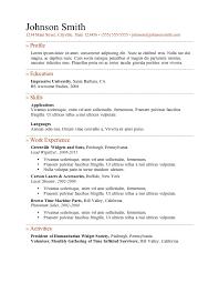 resume examples 10 blank samples general resume templates free