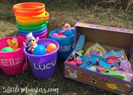 monogrammed easter buckets 5 monsters personalized easter buckets