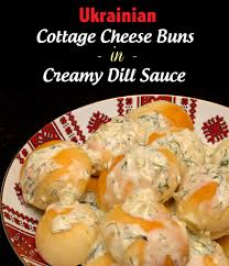 Cottage Dill Bread by Perishke U2013 Ukrainian Cottage Cheese Buns In Creamy Dill Sauce