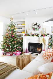 edmonton flocked christmas tree living room contemporary with