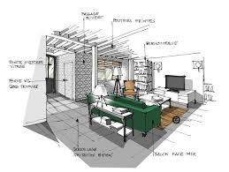 comment dessiner un canapé en perspective croquis architecture intérieure salon et canapé vert dominique