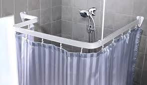 Design Clawfoot Tub Shower Curtain Rod Ideas Captivating Corner Bath Shower Curtain Rail Bendable Shower
