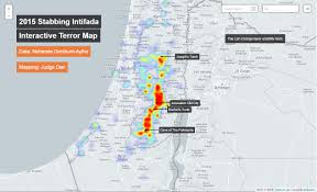 Isreal Map Stabbing Intifada U201d Interactive Terror Map Israellycool