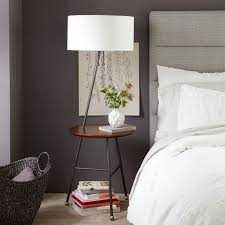 Side Table With Built In Lamp Duo Side Table Floor Lamp West Elm