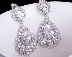 bridal drop earrings bridal drop earrings etsy