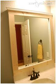 outstanding diy framed bathroom mirror photo ideas yoyh org