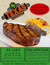 printable coupons for spirit halloween print take this coupon to texas roadhouse for discounts menifee