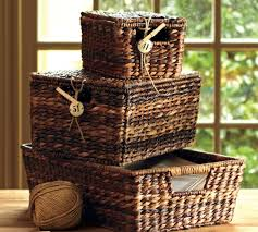 havana lidded baskets pottery barn au