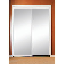Interior Sliding Doors Home Depot Null 96 In X 80 In Polished Edge Mirror Gasket Framed Aluminum
