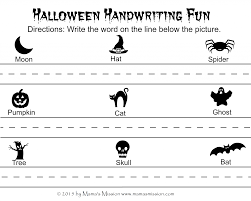 not so scary halloween printables count write and match