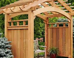 pergola arching garden arbor woodworking plan from wood magazine