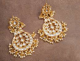 chandbali earrings buy sabina kundan chandbali earrings online