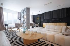 contemporary home interior design ideas which decorated with black