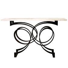 glass and metal console table versailles console table contemporary traditional transitional
