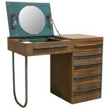 custom beveled starphire mirror desk vanity for sale at 1stdibs