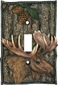 new cute moose candle lamp lodge cabin rustic home decor ebay