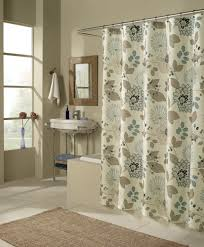 Beautiful Shower Curtains by Interior White Fabric Shower Curtains With Grey Leaves And Floral