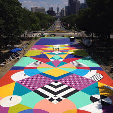 The Oval Check Out The Awesome Mural Being Painted On The Ground At The