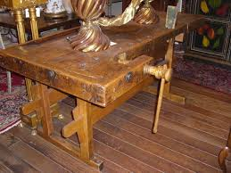 19th c carpenter work bench of mixed woods for sale antiques