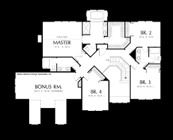 Garage Floor Plans With Bonus Room by Mascord House Plan 2343ea The Branigan